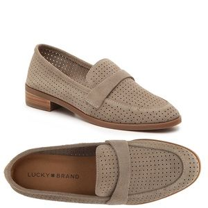 Lucky Brand Caviep Leather Loafers Flats